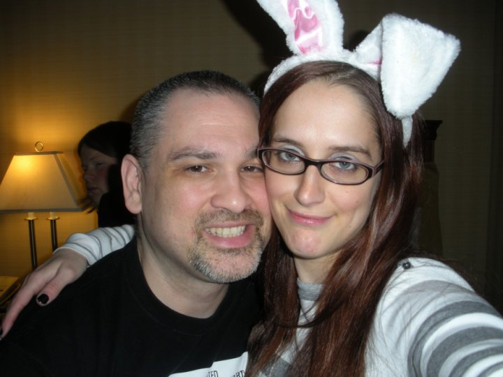 Renee Parties with Bunny Ears