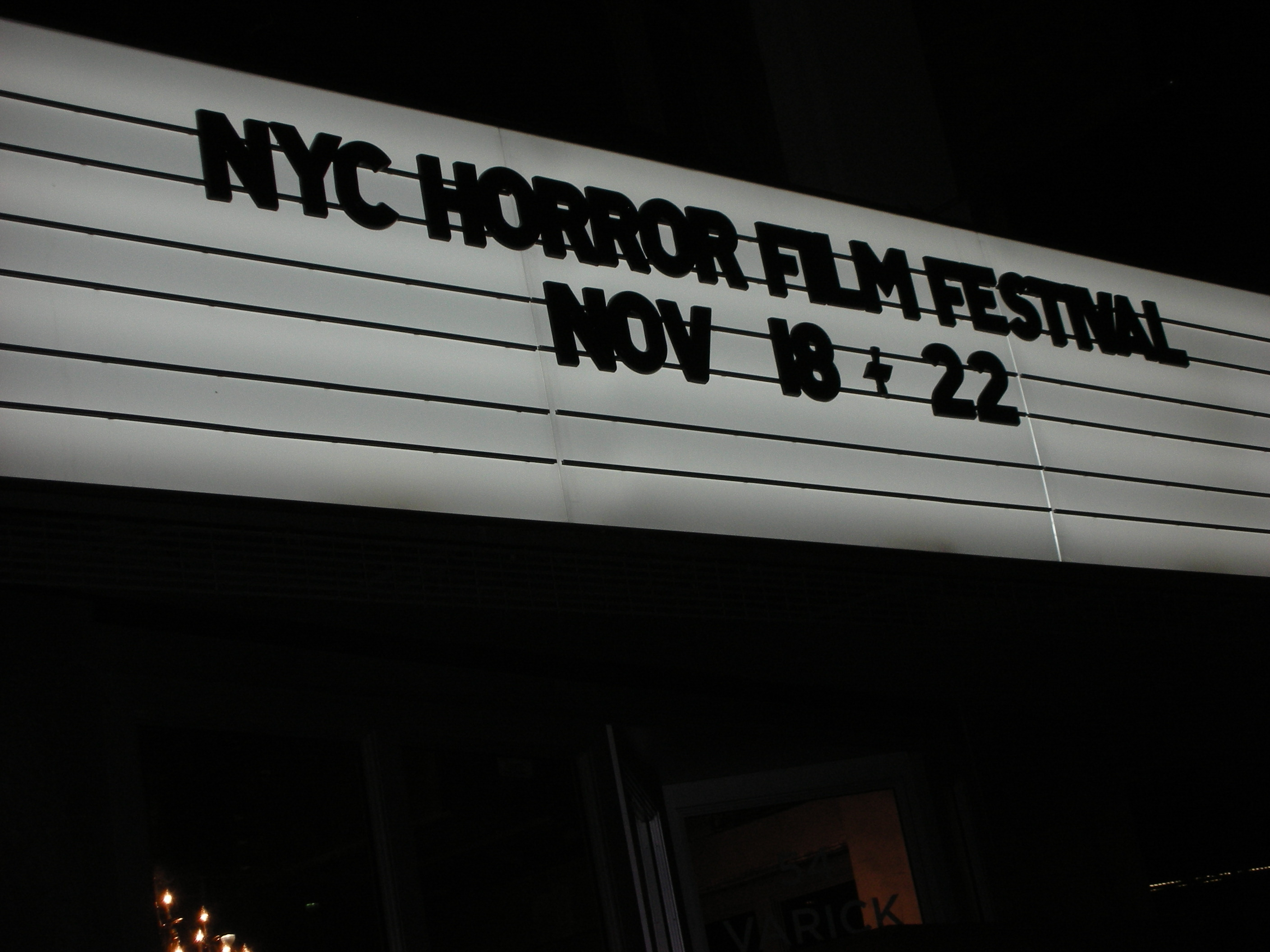 Marquee for the NYCHFF