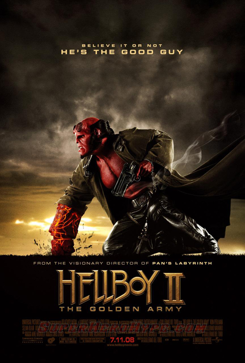 Final HELLBOY 2: THE GOLDEN ARMY One-Sheet!