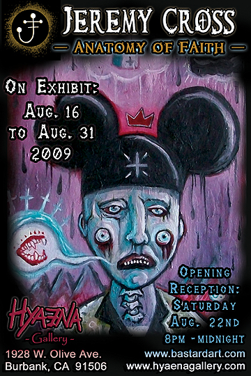 Saturday, August 22nd &#8211; Hyaena Gallery Presents The Art Of Jeremy Cross!
