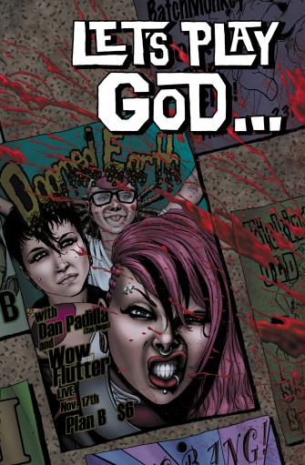 "Zane & Brea Grant Strike In New ""Giallo"" Comic-Book LET'S PLAY GOD!"