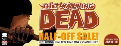 "Celebrate Comic-Con and Issue #100 of The Walking Dead with ComiXology's ""THE WALKING DEAD HALF-OFF SALE"" From July 10th – 15th"