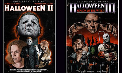 Check Out The HALLOWEEN II & III Animated Menu Screens!