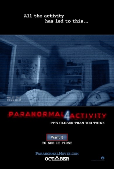 Full Length PARANORMAL ACTIVITY 4 Trailer Is Live!
