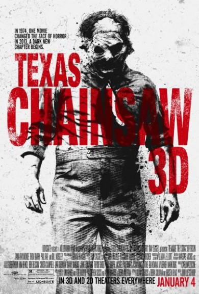 Leatherface Is Front & Center In New TEXAS CHAINSAW 3D Poster!