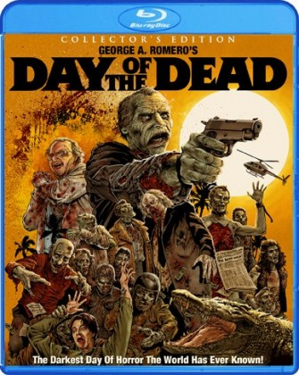 Scream Factory Debuts DAY OF THE DEAD Bluray Artwork!!