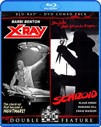 Scream Factory's Blu-ray Cover For Cannon Slashers X-RAY & SCHIZOID!