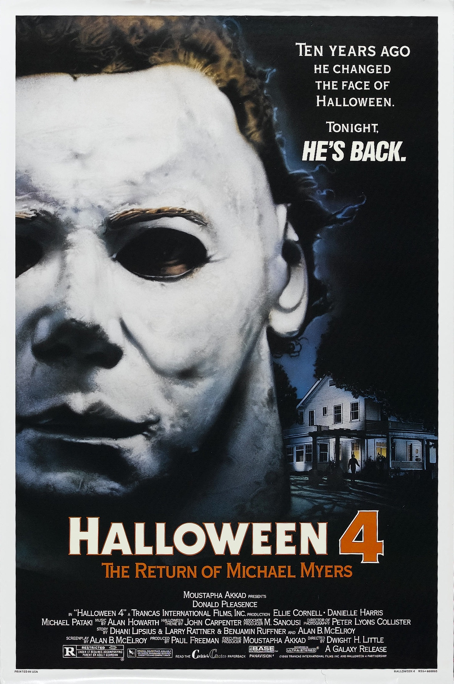 halloween 4 return of michael myers poster - Halloween Trailers